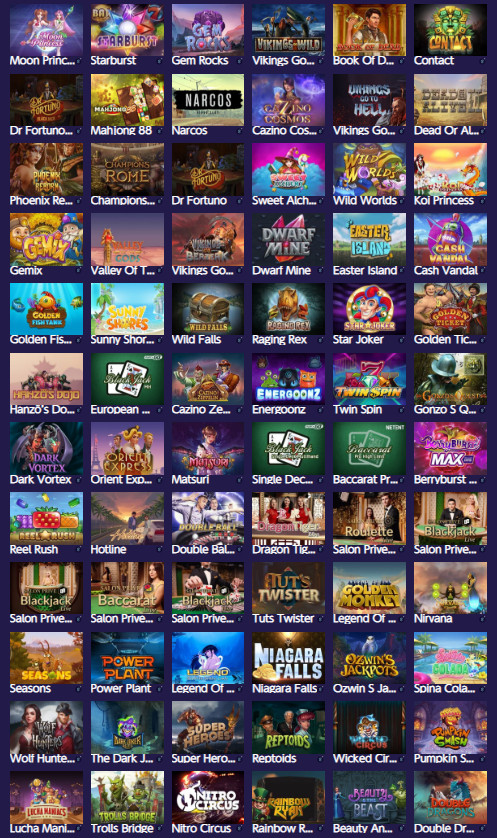 ギャンボラのゲームラインナップ|ほとんどのゲームにG+マークが付されている