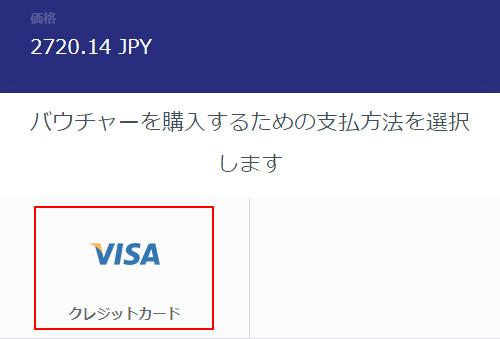 VISAバウチャーの支払方法選択